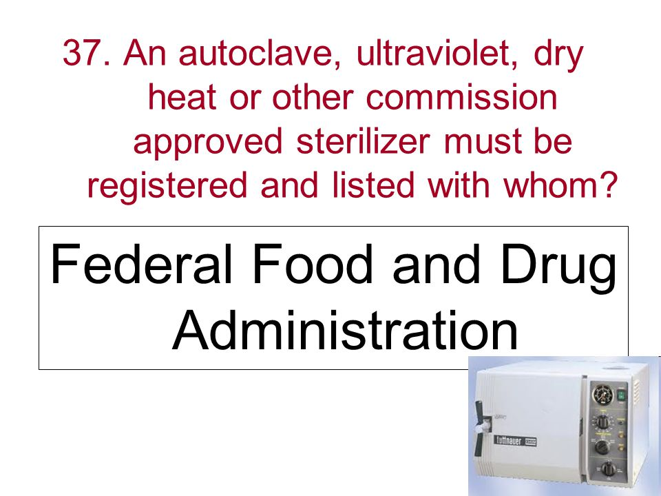 Federal Food and Drug Administration