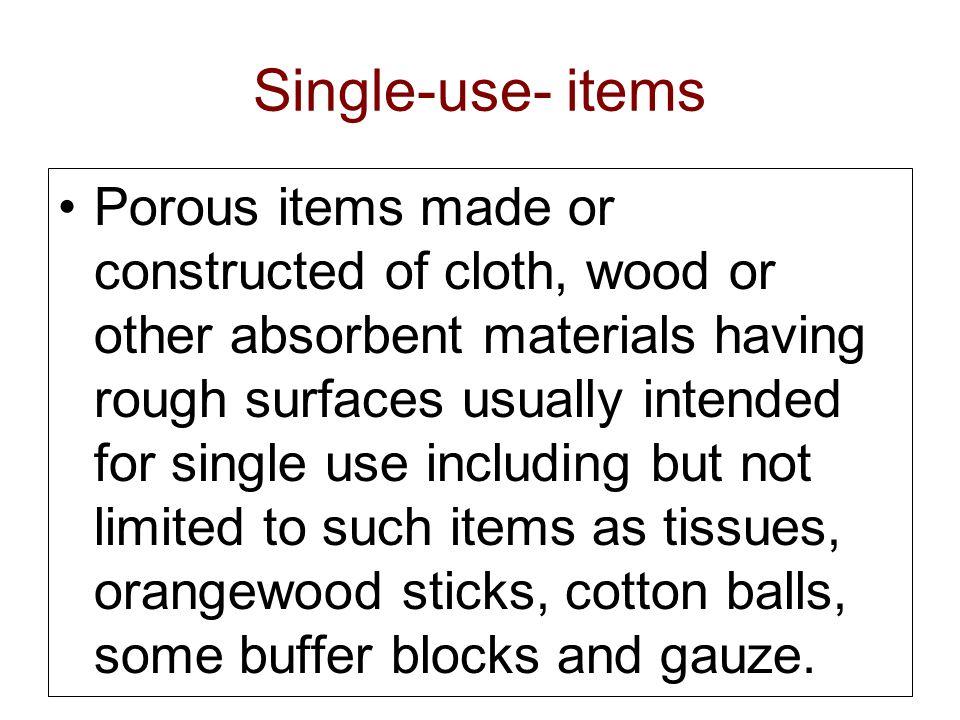 Single-use- items