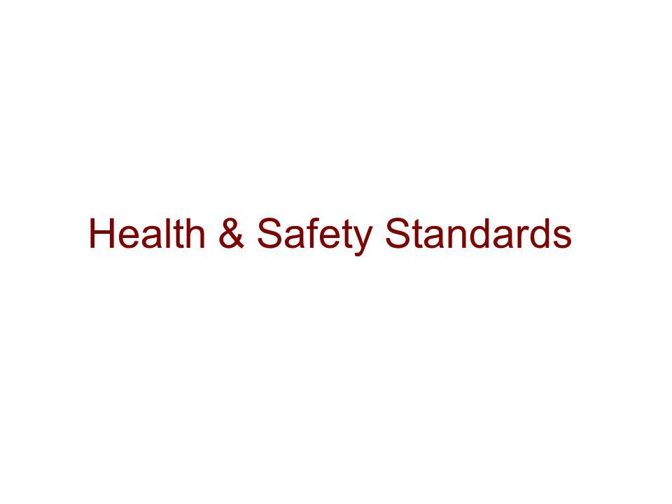 Health & Safety Standards