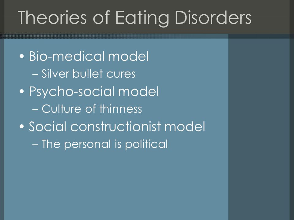 Theories of Eating Disorders