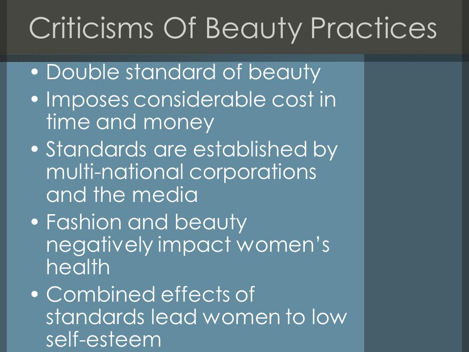 Criticisms Of Beauty Practices