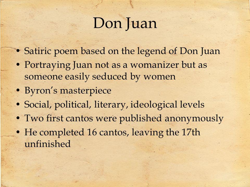 Don Juan Satiric poem based on the legend of Don Juan