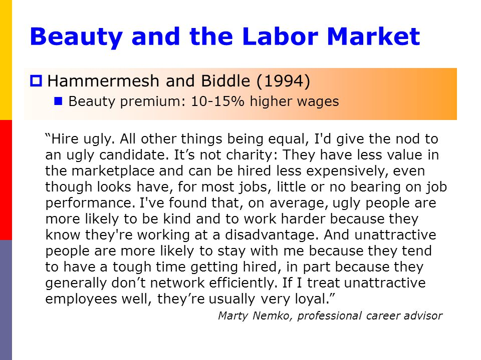 Beauty and the Labor Market