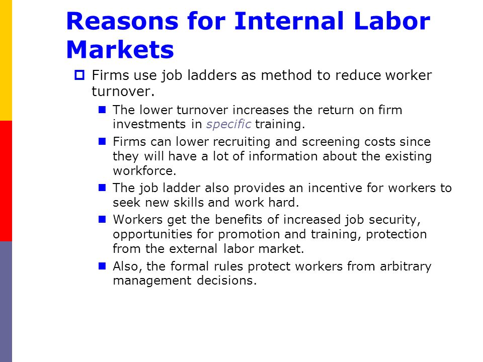 Reasons for Internal Labor Markets