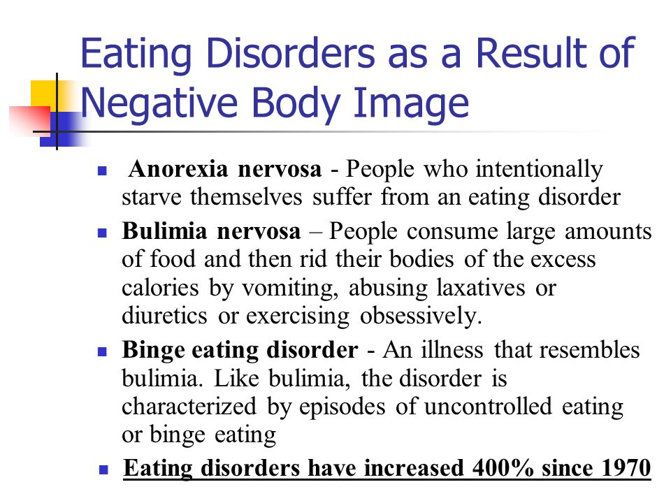 Eating Disorders as a Result of Negative Body Image
