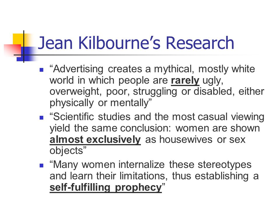 Jean Kilbourne's Research