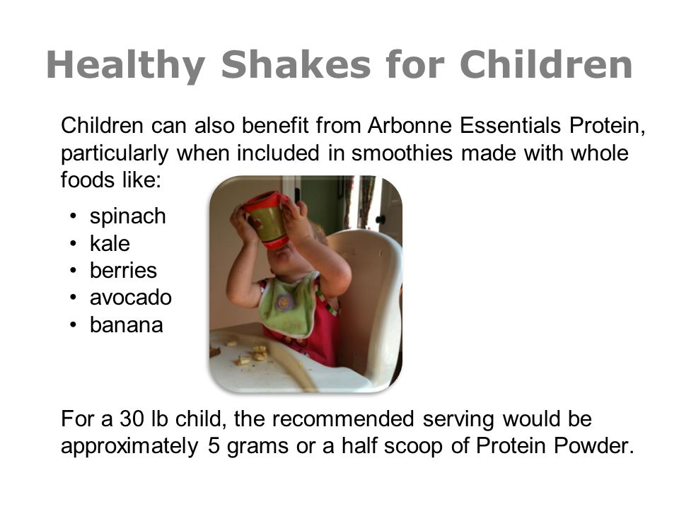 Healthy Shakes for Children