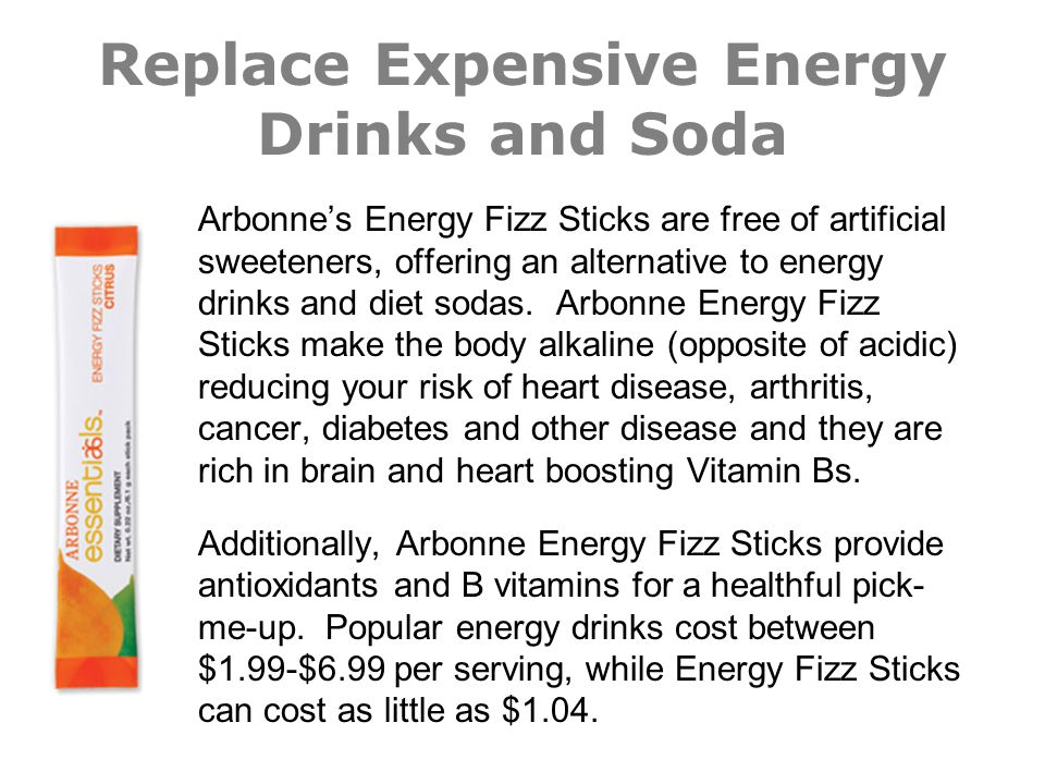 Replace Expensive Energy Drinks and Soda