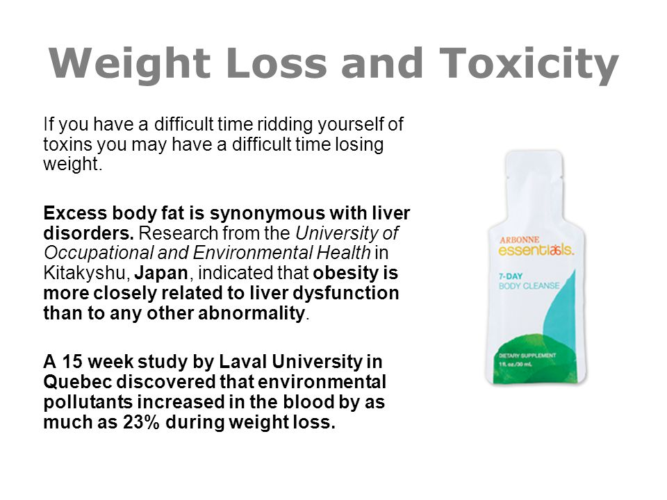 Weight Loss and Toxicity