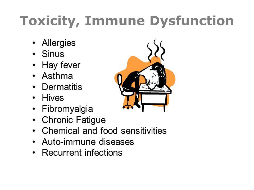 Toxicity, Immune Dysfunction
