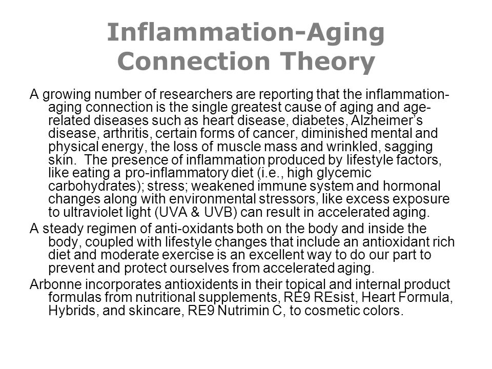 Inflammation-Aging Connection Theory