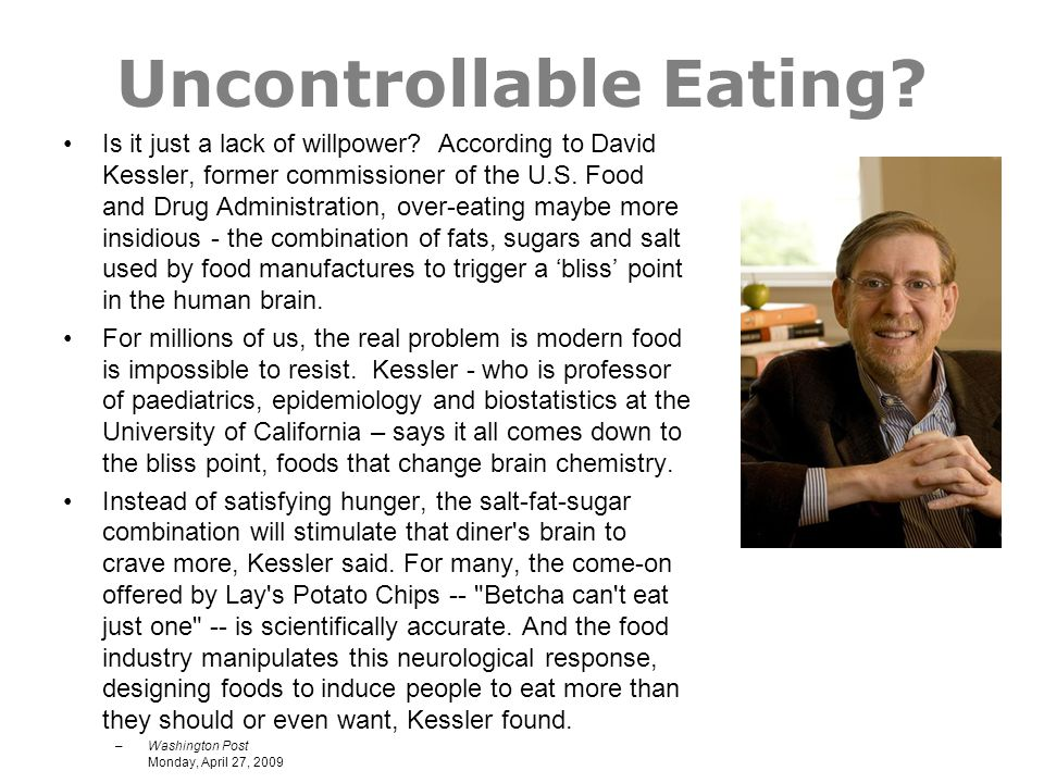 Uncontrollable Eating