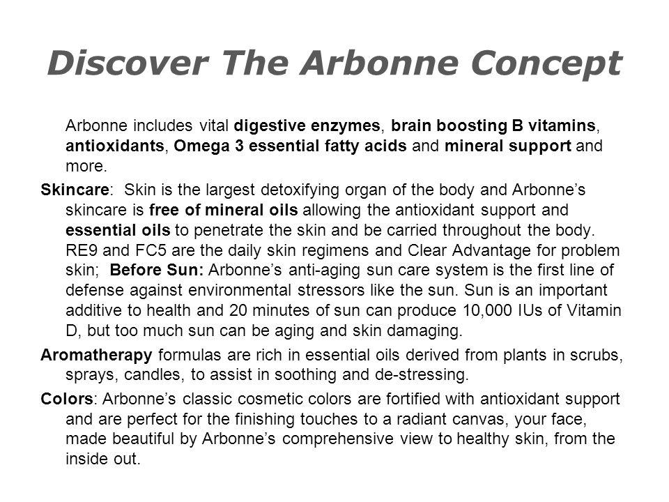 Discover The Arbonne Concept