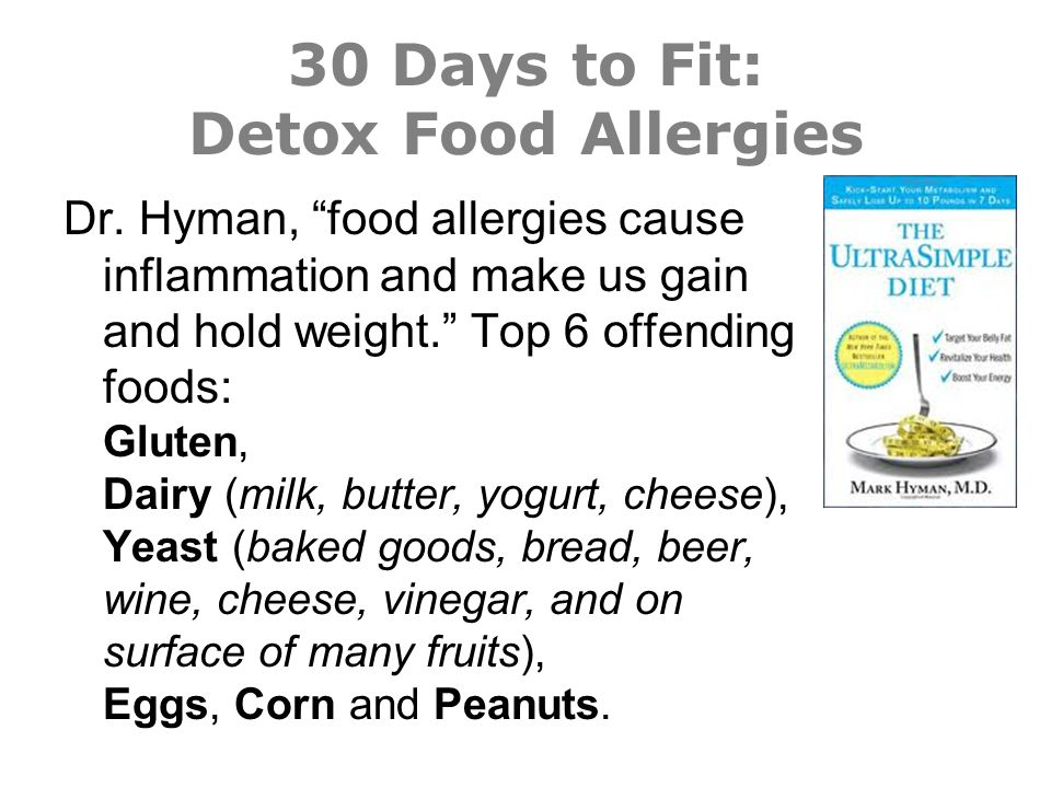 30 Days to Fit: Detox Food Allergies