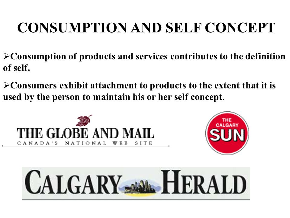 CONSUMPTION AND SELF CONCEPT