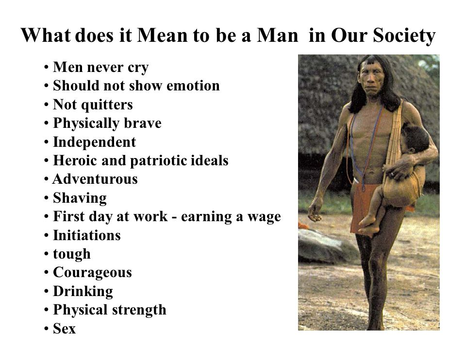 What does it Mean to be a Man in Our Society