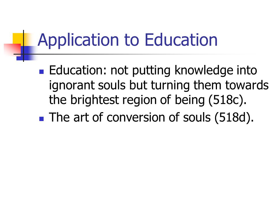 Application to Education