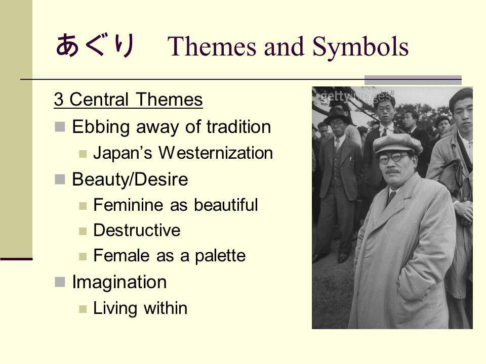 あぐり Themes and Symbols 3 Central Themes Ebbing away of tradition