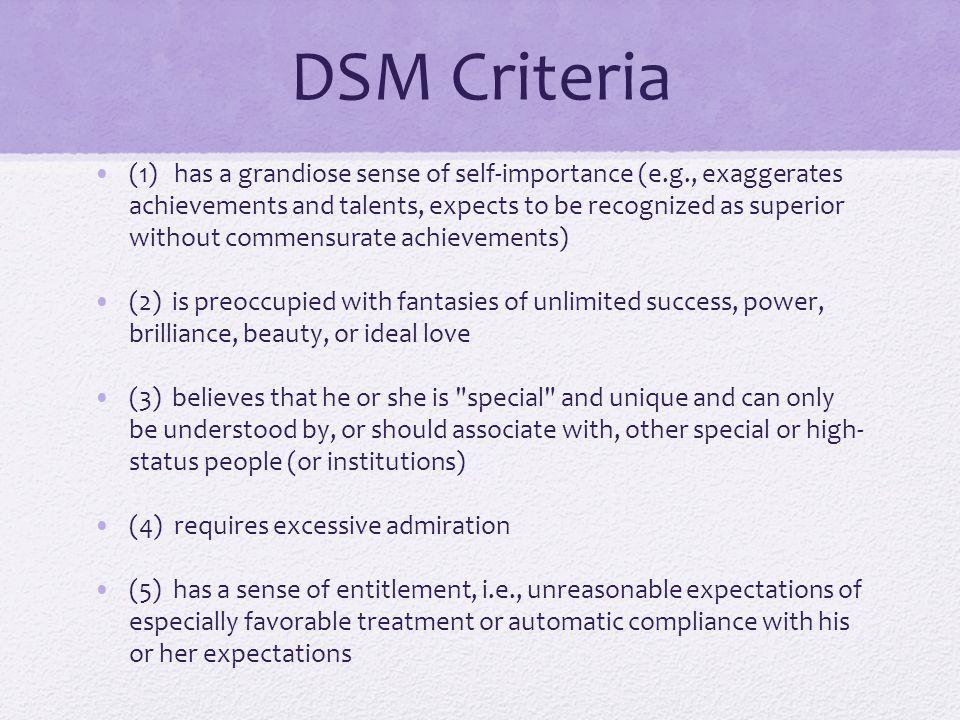 DSM Criteria