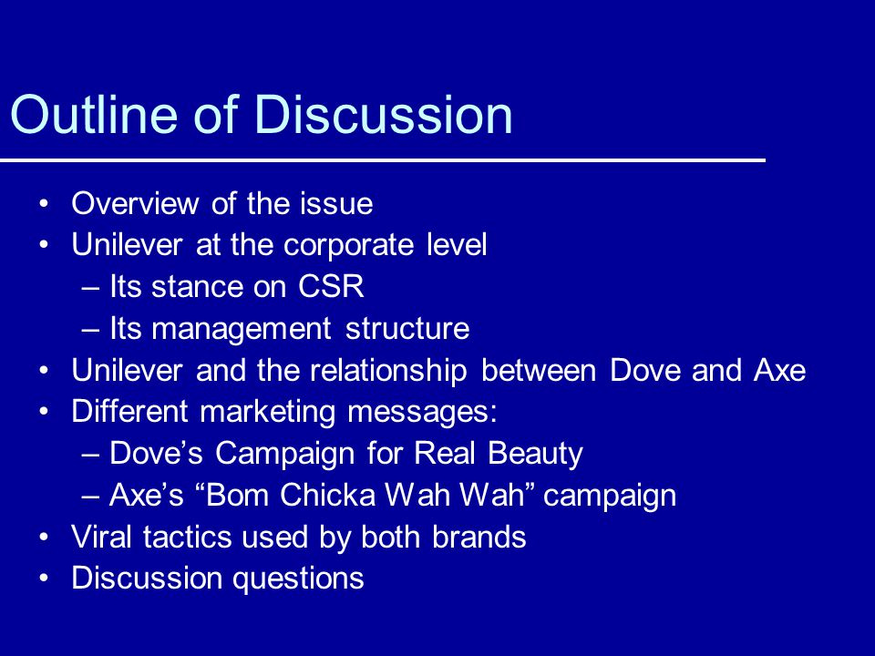 Outline of Discussion Overview of the issue