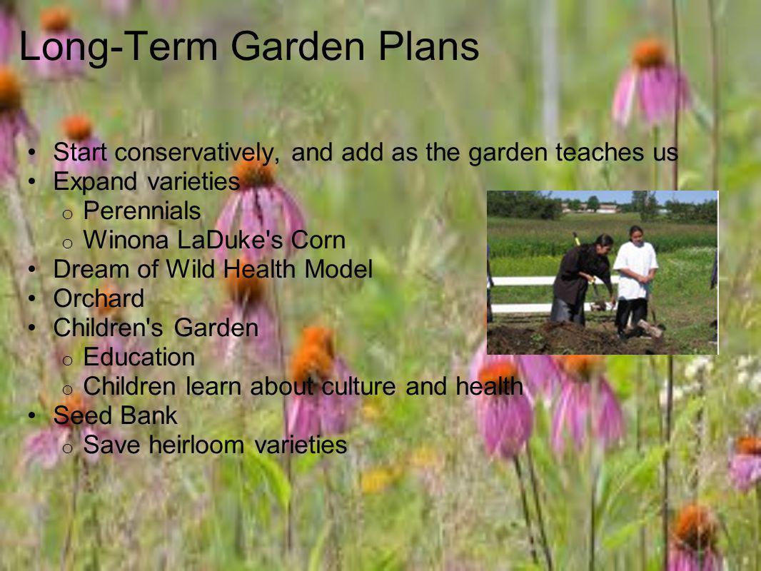 Long-Term Garden Plans