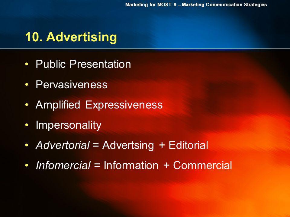 10. Advertising Public Presentation Pervasiveness
