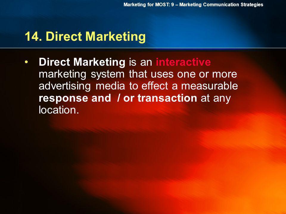 14. Direct Marketing