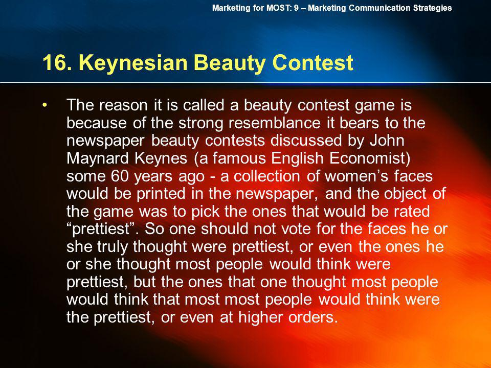 16. Keynesian Beauty Contest