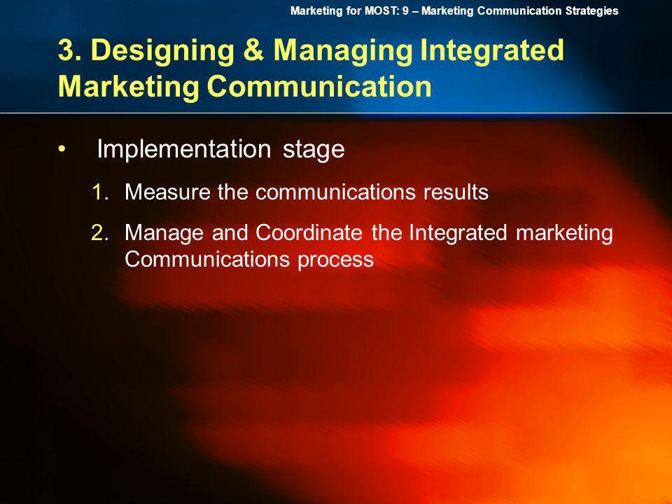 3. Designing & Managing Integrated Marketing Communication