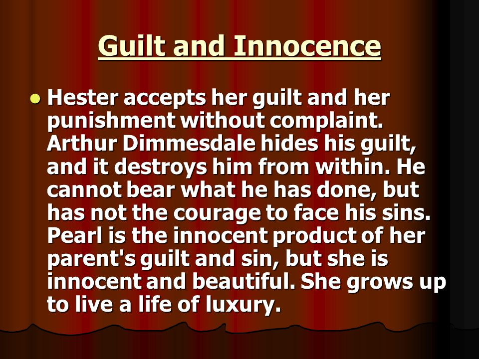 Guilt and Innocence
