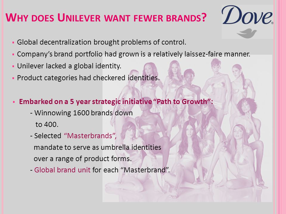 Why does Unilever want fewer brands