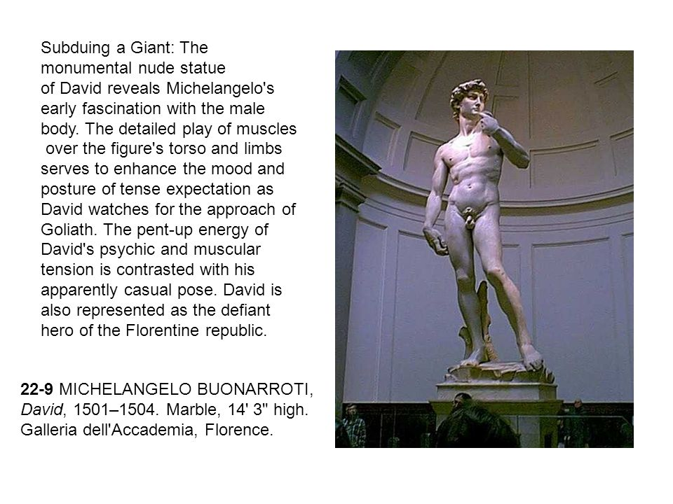 Subduing a Giant: The monumental nude statue