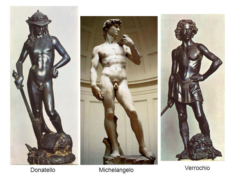 Verrochio Donatello Michelangelo