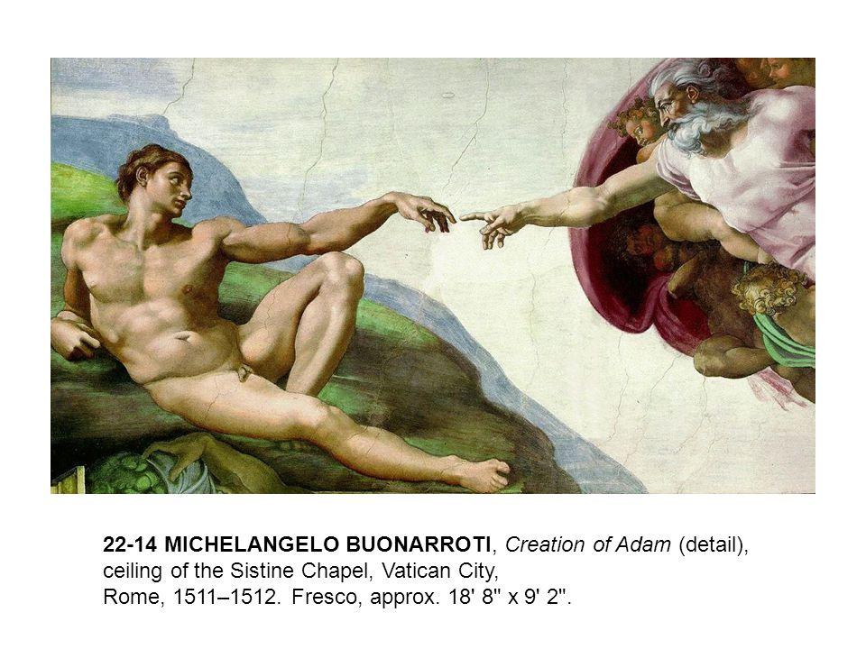 22-14 MICHELANGELO BUONARROTI, Creation of Adam (detail),