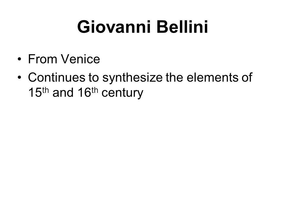Giovanni Bellini From Venice
