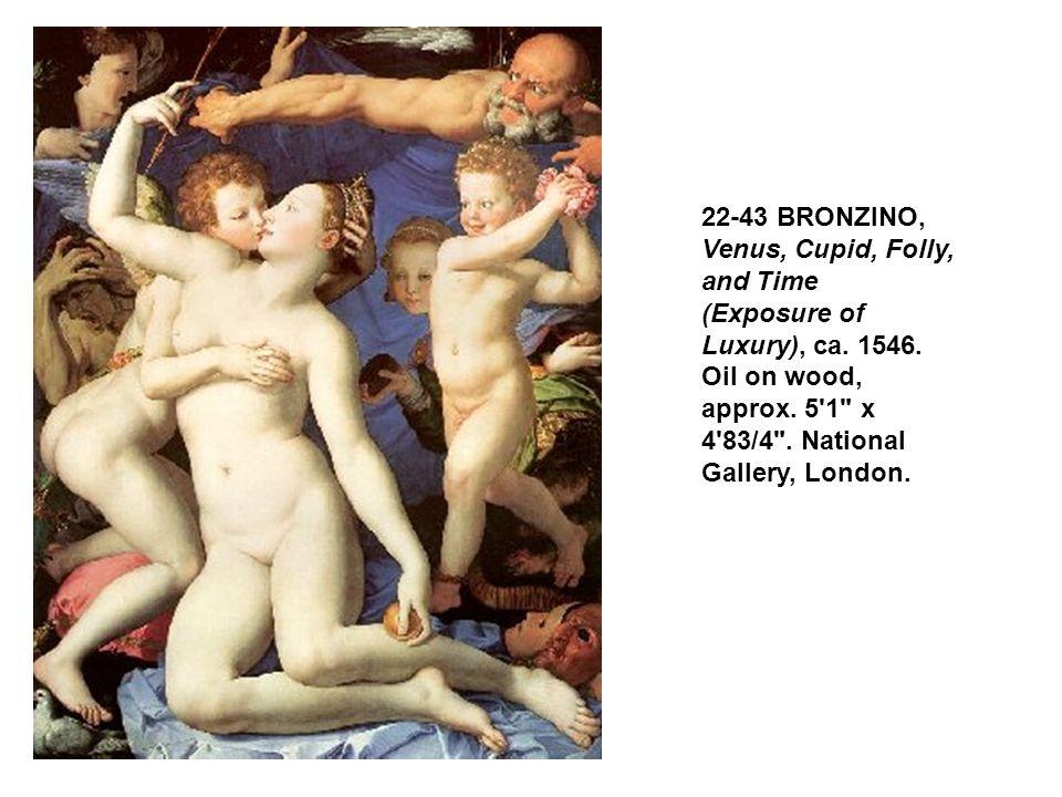 22-43 BRONZINO, Venus, Cupid, Folly, and Time (Exposure of Luxury), ca