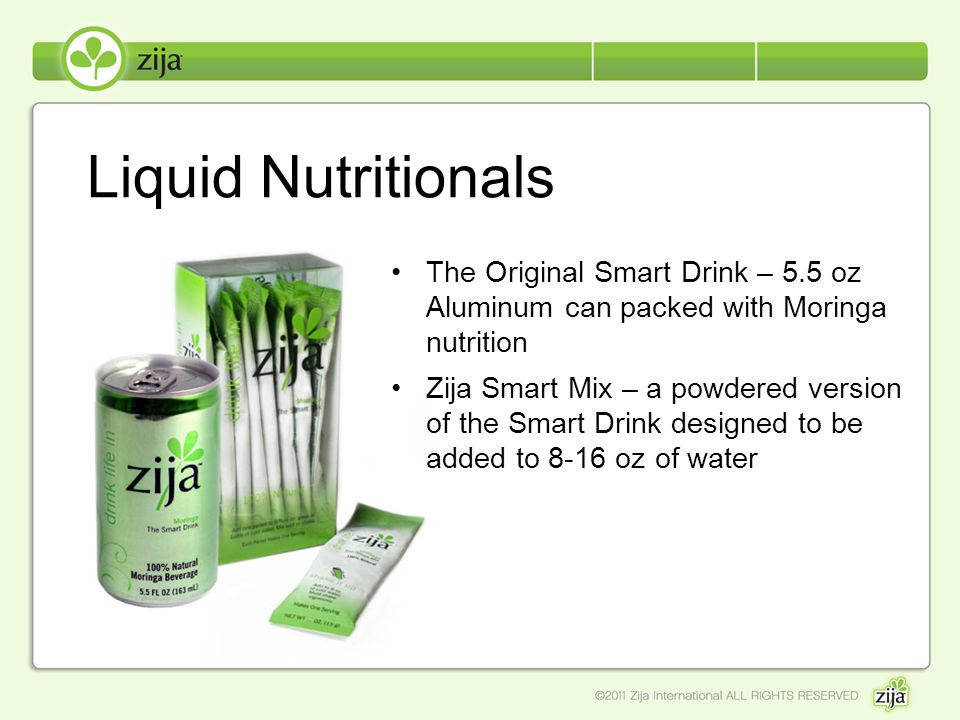 Liquid Nutritionals The Original Smart Drink – 5.5 oz Aluminum can packed with Moringa nutrition.