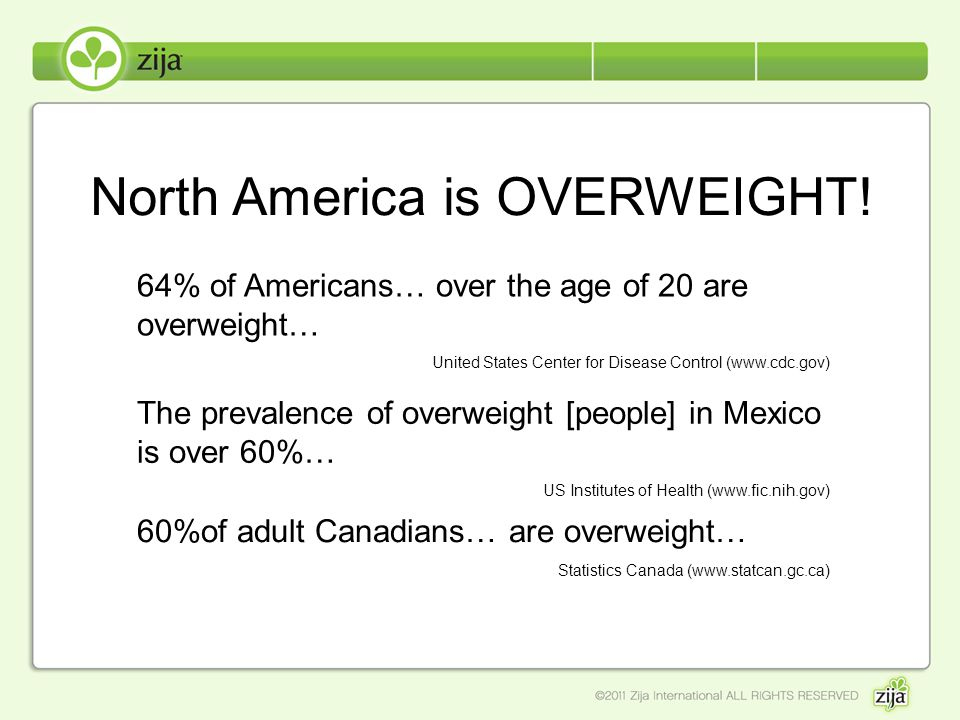 North America is OVERWEIGHT!