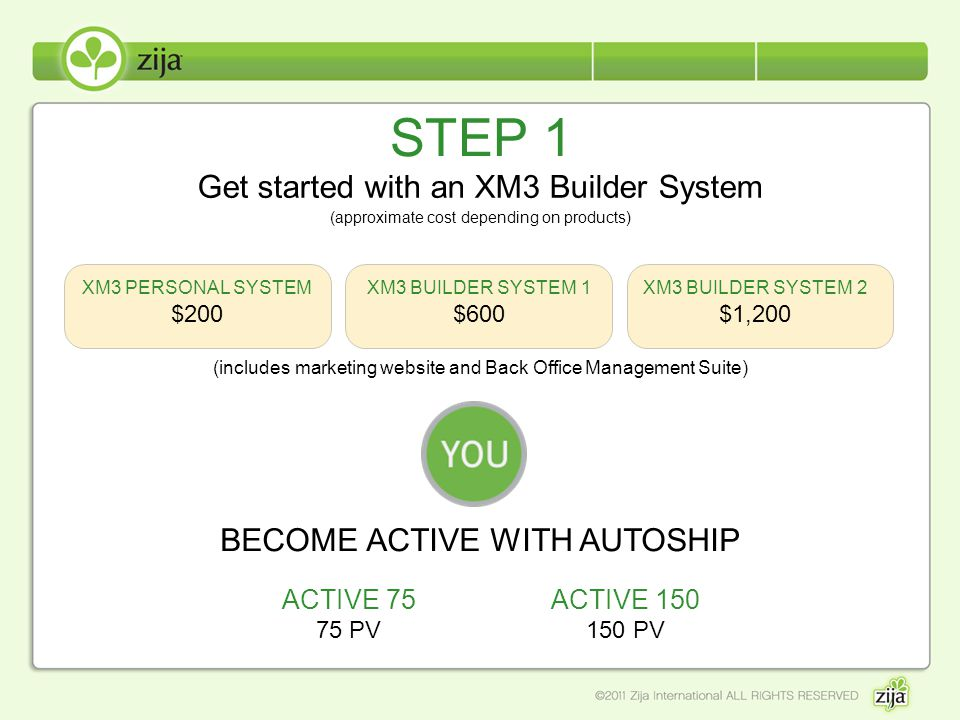 STEP 1 Get started with an XM3 Builder System