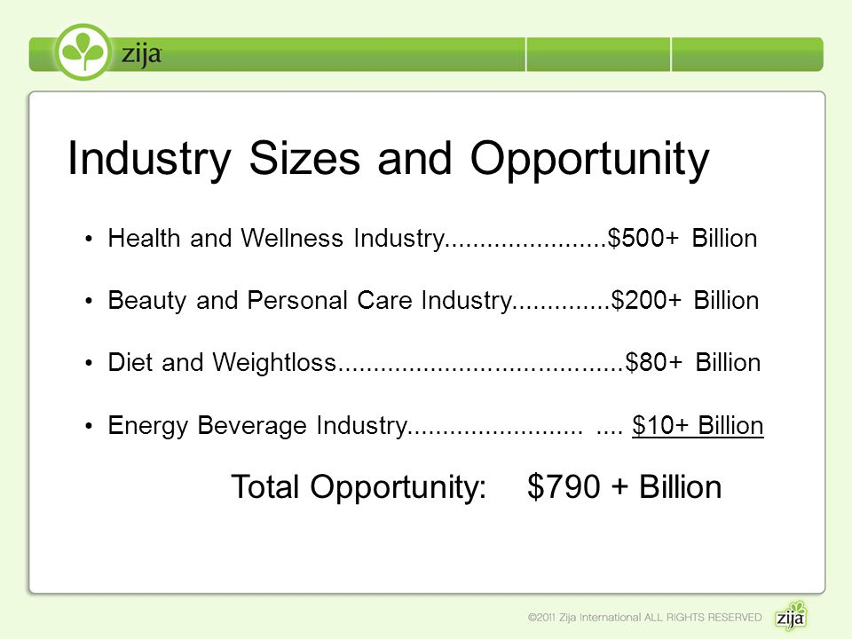 Industry Sizes and Opportunity