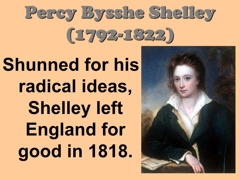 Percy Bysshe Shelley ( )