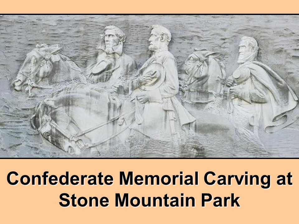 Confederate Memorial Carving at Stone Mountain Park