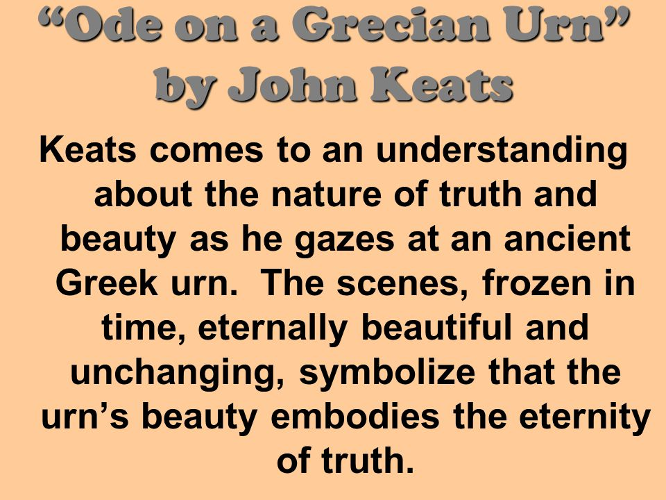 Ode on a Grecian Urn by John Keats