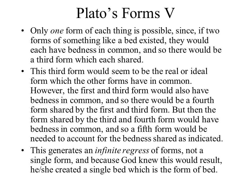 Plato's Forms V