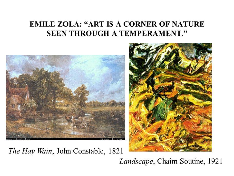 EMILE ZOLA: ART IS A CORNER OF NATURE SEEN THROUGH A TEMPERAMENT.