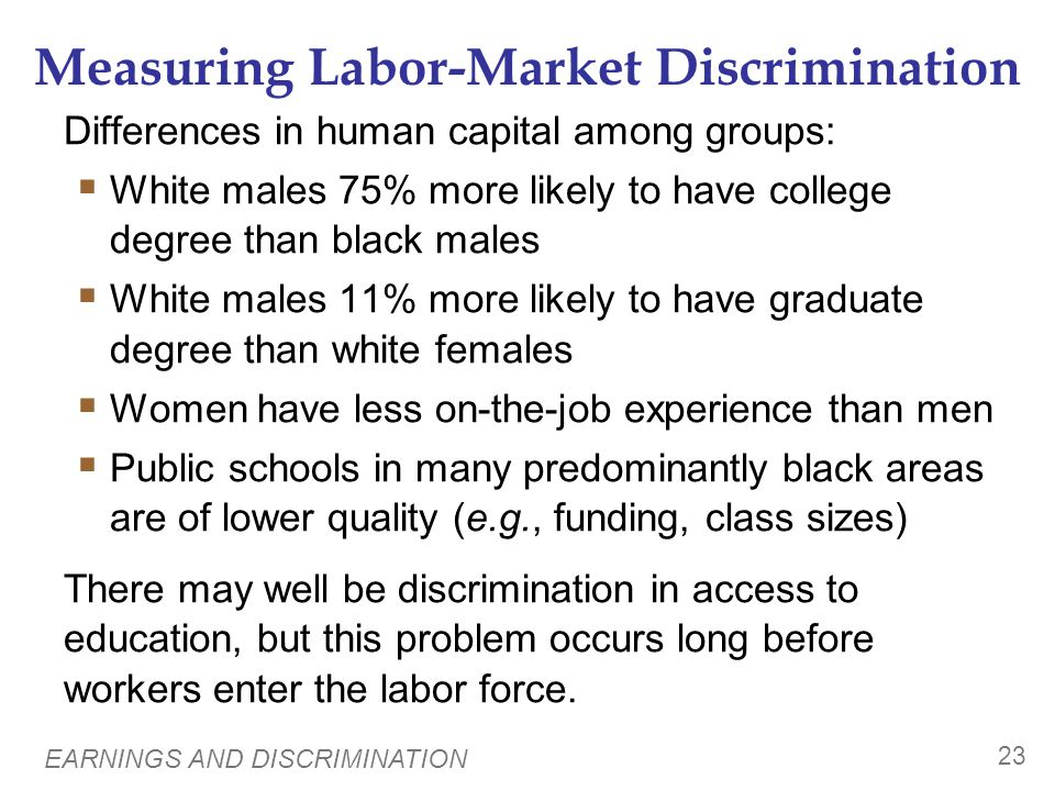 Measuring Labor-Market Discrimination