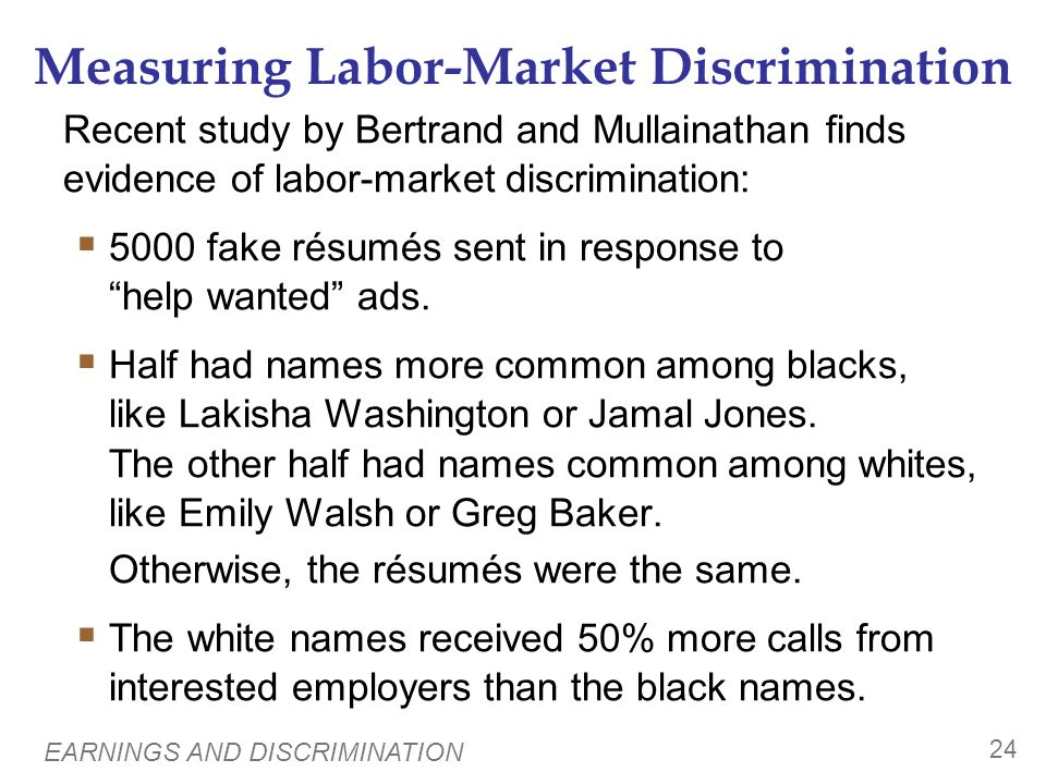 Discrimination by Employers