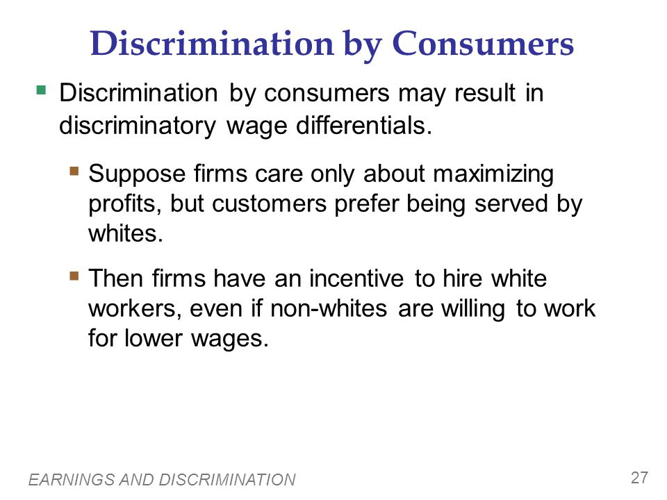 Discrimination by Governments
