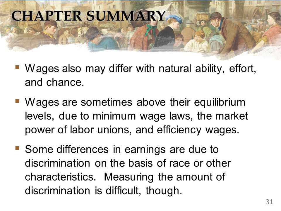 CHAPTER SUMMARY The profit motive tends to limit the impact of employer discrimination on wages.