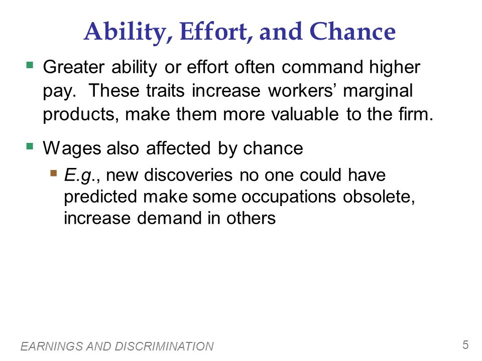 Ability, Effort, and Chance